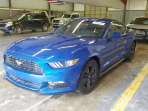 2016 Fored Mustang Blue 3.7