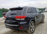 2016 Jeep Grand Cherokee Overland Blue фото сзади справа