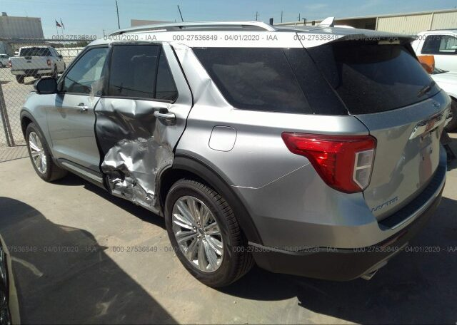 2020 Ford Explorer Limited 2.3 Silver фото сзади слева