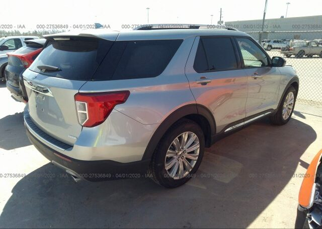 2020 Ford Explorer Limited 2.3 Silver фото сзади справа