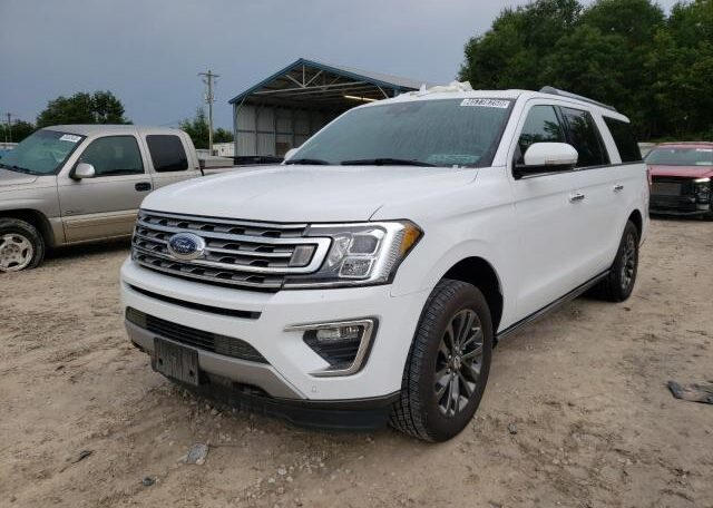 2019 Ford Expedition Max Limited 3.5 White фото спереди слева