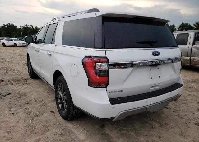 2019 Ford Expedition Max Limited 3.5 White фото сзади слева
