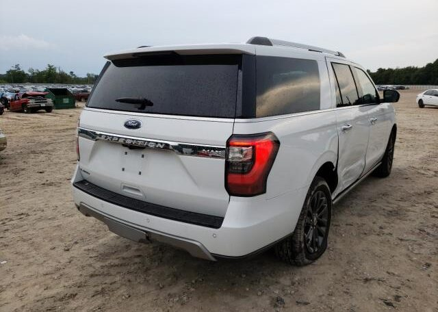 2019 Ford Expedition Max Limited 3.5 White фото сзади справа