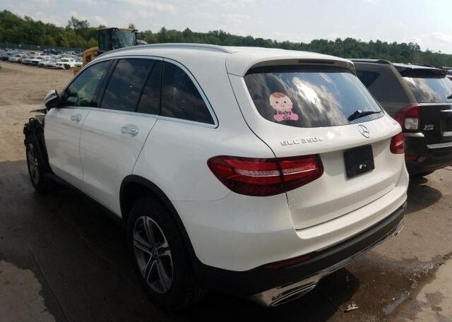 2018 Mercedes-Benz GLC 350E 2.0 Hybrid White фото сзади слева