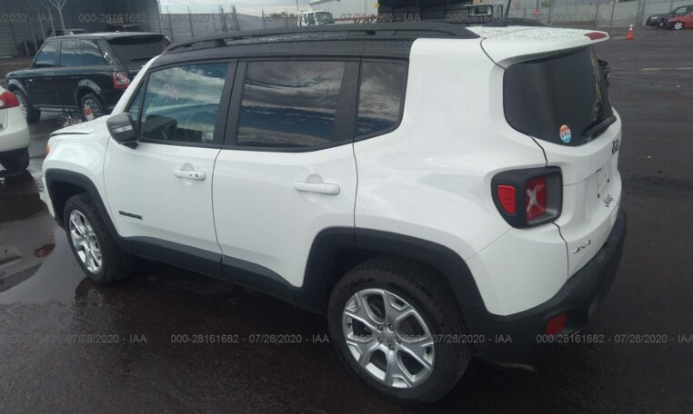 2019 Jeep Renegade Limited 1.3 White фото сзади слева