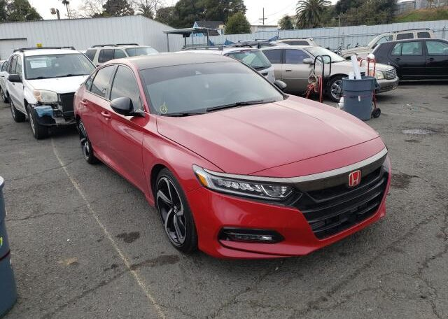 2019 Honda Accord Sport 1.5 Manual2019 Honda Accord Sport 1.5 Manual Red фото спереди справа